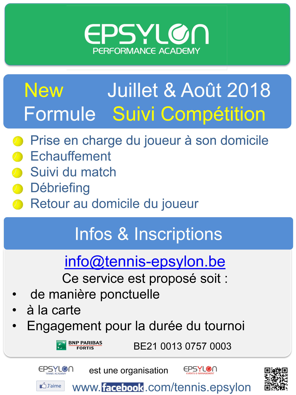 Stages Tennis Multi-activités Mosa Engis 2018 Liège Compétition